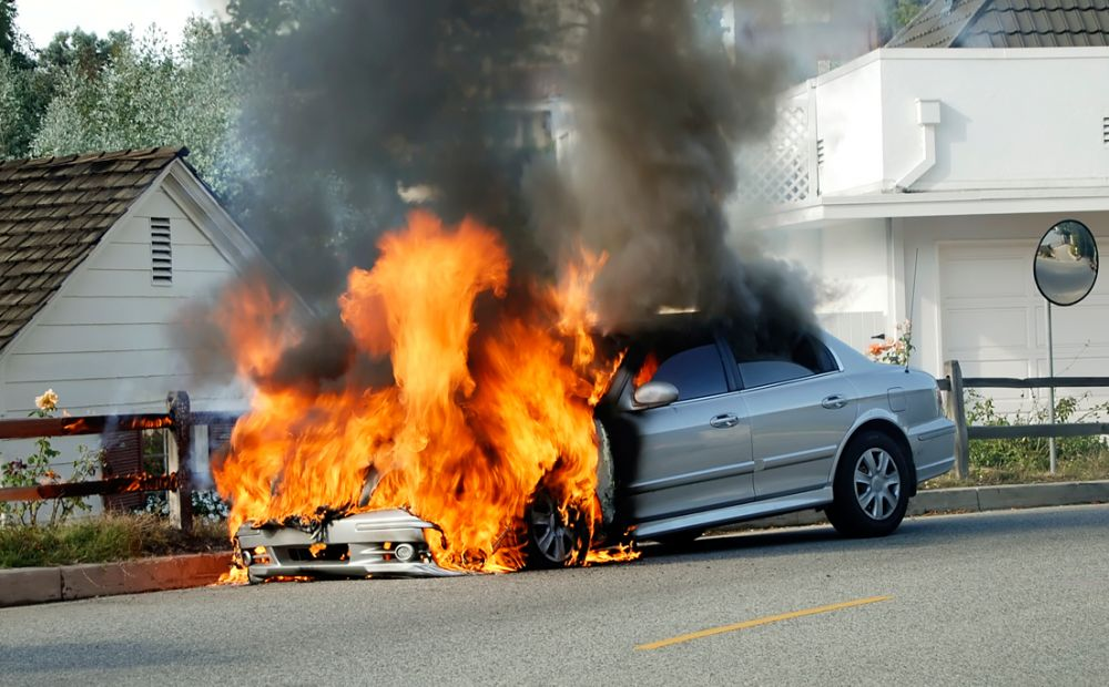 What causes car fires to start?